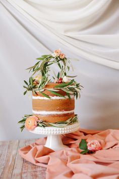 One of the newer cake trends- naked cake with icing only between the layers. Perfect for understated elegance!