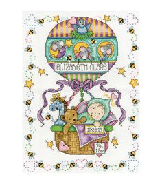 Tobin Balloon Ride counted-cross-stitch Kit Birth Record $22.99