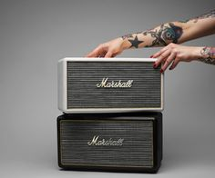 Wireless speakers: Marshall's Stanmore speaker has a retro feel, with analog knobs, but also wireless