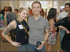 Crystal Gale Phelps and Tim Walsh during the Undisclosed event.  (Toledo Blade, June 2013)