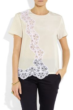Marquis silk and lace top