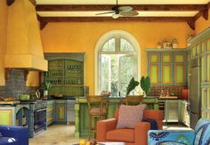 colorful kitchen decorating ideas | Colorful Open Kitchen at Awesome Colorful Kitchen Design Ideas Home ...
