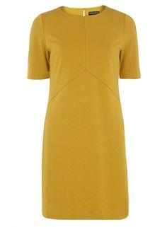 yellow ponte shift dress