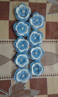 Escarapela argentina redonda a crochet accesorios a for Decoracion 9 de julio pinterest