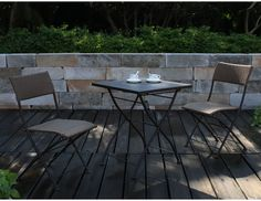 Patio Furniture Dining Set Outdoor Bistro Table And Chairs 3 Piece Sets Folding #Mars