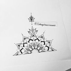 half mandala design - Google Search