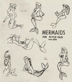 Mermaid drawings for Peter Pan 1953 - image #2495542 by miss_dior ...