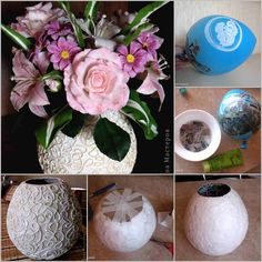 DIY Vase from Recycling Paper