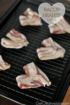 Bacon Hearts tutorial & recipe