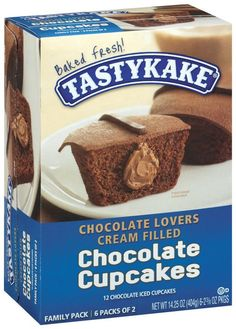 I'm learning all about Tastykake Chocolate Lovers Cream Filled Chocolate 2 3/8 Oz Packages Cupcakes 6 Ct Box at @Influenster!