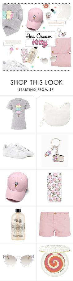 """Ice Cream Kitty"" by cara-mia-mon-cher ❤ liked on Polyvore featuring Pusheen, Forever 21, adidas, philosophy, Current/Elliott, Elie Tahari, Paul & Joe Beaute and NARS Cosmetics"