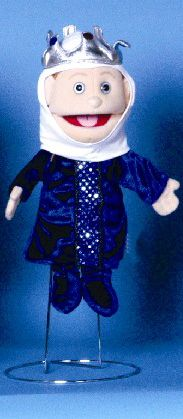 Meet her majesty - the Queen! This queen puppet has an easy-to-use mouth that allows for wonderful facial expressions! She comes completely dressed as shown. Glove Puppets, People Puppets, Her Majesty The Queen, Velvet Shoes, Cloak, Blue Velvet, Shades Of Blue, Fairy Tales