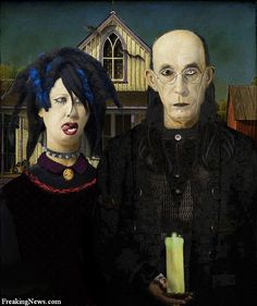 """""""American Gothic Manson Style"""" by Unknown."""