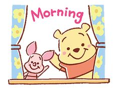 LINE Official Stickers - Pooh and Piglet (Lovely) Example with GIF Animation Winnie The Pooh Gif, Winne The Pooh, Gif Animé, Animated Gif, Disney Drawings, Cute Drawings, Cute Love Gif, Good Morning Gif, Cute Disney Wallpaper