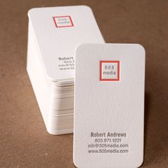 Business Cards, Letterpress