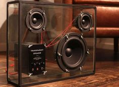 A booming transparent speaker