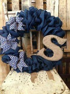 Burlap wreath by #BackSpaceBoutique on Etsy, $65.00 by Kelseyy