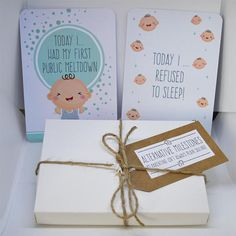 Alternative Funny Baby Milestone Cards  Perfect Gift For