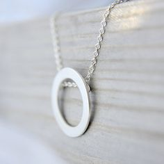 Memory - Silver Circlet Pendant, Modern and Simple Design, Very Stylish Focal Piece