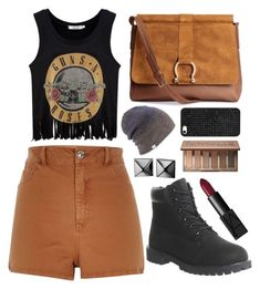 """""""#43 - Hiking days"""" by noimagination ❤ liked on Polyvore featuring River Island, Timberland, H&M, Coal, BaubleBar, Urban Decay, Waterford and NARS Cosmetics"""
