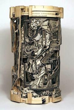 briandettmer <3 Book Carving Altered Art