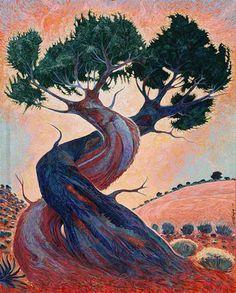 Shonto Begay ~ Navajo Painter ~ Grandparent Trees