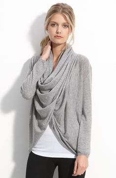 Free shipping and returns on Alice + Olivia Drape Front Cardigan at Nordstrom.com. A wool-and-cashmere knit cardigan is designed with a long front placket that buttons at the hem. Once fastened, the extra fabric can be draped around the neck to create a modern, cowled look.