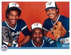 George Bell, Lloyd Moseby and Jesse Barfield Toronto Blue Jays, Sports Baseball, Baseball Cards, Baseball Stuff, Sports Teams, Childhood Memories, Olympics, Major League