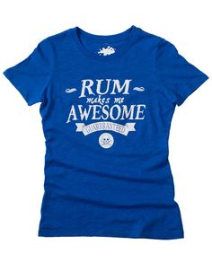 Rum Makes Me Awesome Tee & Tank – Team Cocktail
