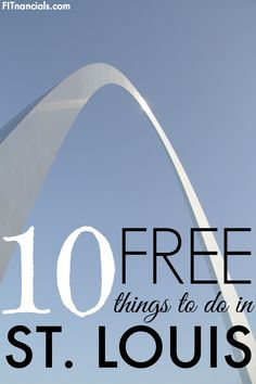 10 Free Things To Do In St. Louis. There are MANY free things to do in St. Louis. You can go to the science center, the zoo, the art museum, and more all for free. Cheap Travel, Us Travel, Travel Bugs, Budget Travel, Family Travel, Vacation Places, Vacation Trips, Vacations, Free Activities
