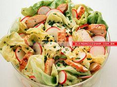 Receita de Salada de alface com frango | Guia da Cozinha