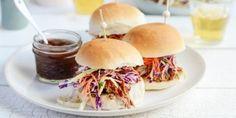 Pulled Pork Jerk Sliders Recipe - featuring Barker's Nine Spice Barbeque Jerk Sauce