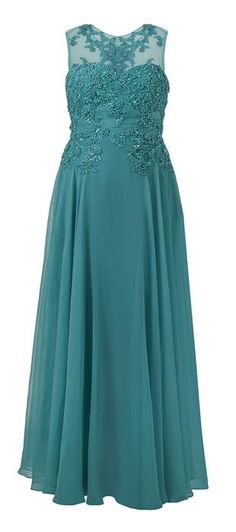 Teal bridesmaid's dress Vestidos Mob, Vestidos Plus Size, Plus Size Gowns, Mob Dresses, Gala Dresses, Beautiful Gowns, Beautiful Outfits, Blue Wedding Dresses, Mothers Dresses