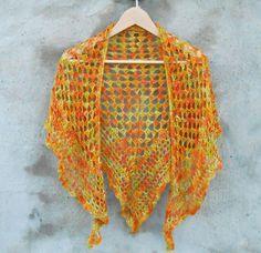 The Autumn Dream Shawl / Vegan / OOAK / Bamboo Yarn by Aggaisworld, kr480.00