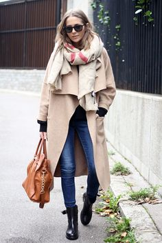 tonal jacket x scarf