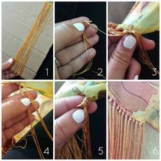 flecos Flamenco Costume, Flamenco Skirt, Sewing Tutorials, Sewing Hacks, Costura Diy, Crochet Fringe, Spanish Style, Knitted Shawls, Shawls And Wraps