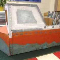 Cardboard box boat!