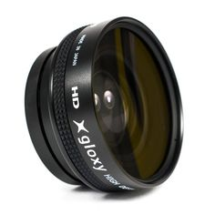 Lentille Grand Angle Gloxy 0.45x 58mm avec Macro pour Panasonic Lumix DMC-FZ300