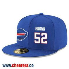Buffalo Bills #52 Preston Brown Snapback Cap NFL Player Royal Blue with White Number Hat