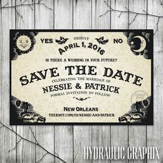 Ouija Board Save the Date for Wedding, Halloween Wedding Invite, Til Death Do Us Part, Gothic Invitation, Halloween Party Invitation - Wedding Shoot - Ouija, Wedding Shoot, Fall Wedding, Our Wedding, Dream Wedding, Wedding Stuff, Christmas Wedding, Geek Wedding, Black Wedding Decor