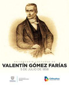 Un día como hoy, pero de 1858, muere Valentín Gómez Farías, reconocido como el Padre de la Reforma Liberal, Presidente de México durante breves períodos. #ComSocChih #GobiernodeChihuahua