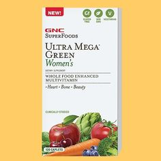 GNC SuperFoods Ultra Mega Green Women's 120 Caplets * You can get more details by clicking on the image.