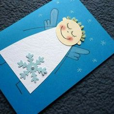 Také v obchode nekúpite: DIY najkrajšie vianočné pohľadnice do 30 minút Diy Christmas Cards, Christmas Angels, Simple Christmas, Kids Christmas, Christmas Decorations, Easy Christmas Crafts For Toddlers, Christmas Activities, Holiday Crafts, Angel Crafts