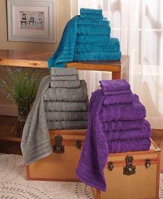 Luxurious Super Absorbent Soft Cotton Terry Bath Sheet 8 Piece Bath Towel Set