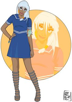 21 More Disney Characters As Modern College Students - 16.  Kida - Atlantis: The Lost Empire - Link: http://hyung86.deviantart.com/art/Disney-University-Kida-394452994