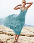 Cotton-Gauze Long Dress @ Garnet hill