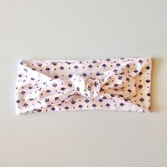 Blue Floral Print Top Knot Headband, Baby, Toddler, Girl, Spring on Etsy, $10.00