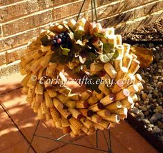 Unique Wine Cork Wreath by Corkycrafts on Etsy