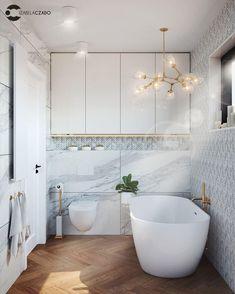 Łazienka jasna 4 m kw. Styl nowoczesny.   Bathroom Renos, Bathrooms, Bathroom Interior Design, Clawfoot Bathtub, Bathroom Inspiration, Double Vanity, Refrigerators, Home Decor, Sweet