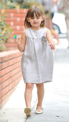 Supermodel Alessandra Ambrosio's daughter, Anja was spotted wearing Pale Cloud's Janice Dress to her school graduation
